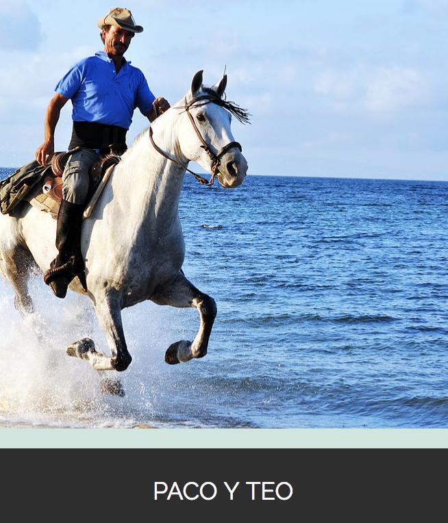 Montando a caballo en la playa de Tarifa